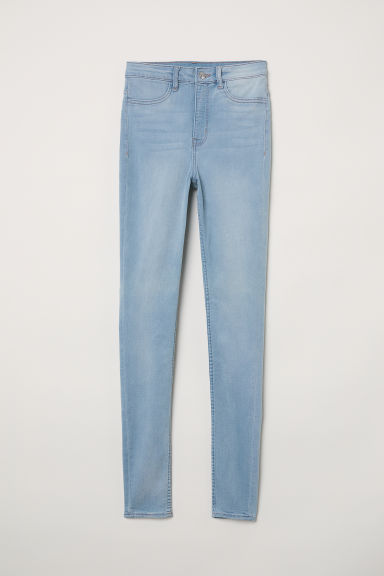 Super Skinny High Jeans - 浅牛仔蓝 - 女 | H&M CN