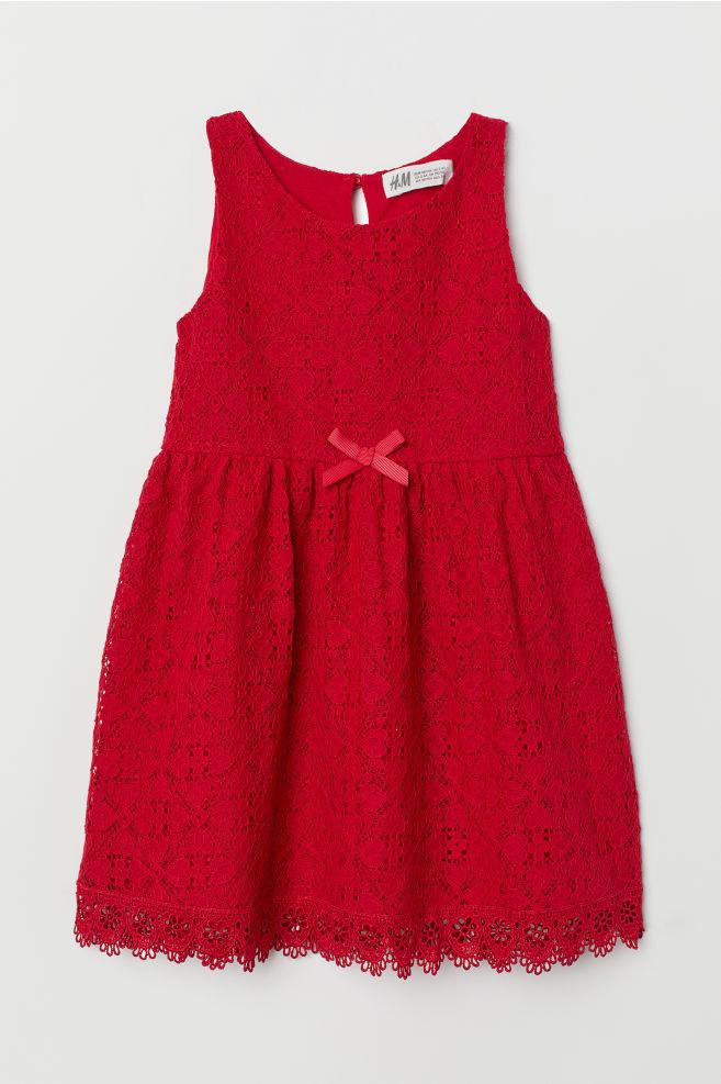 c74716274536 Čipkové šaty bez rukávov - červená -