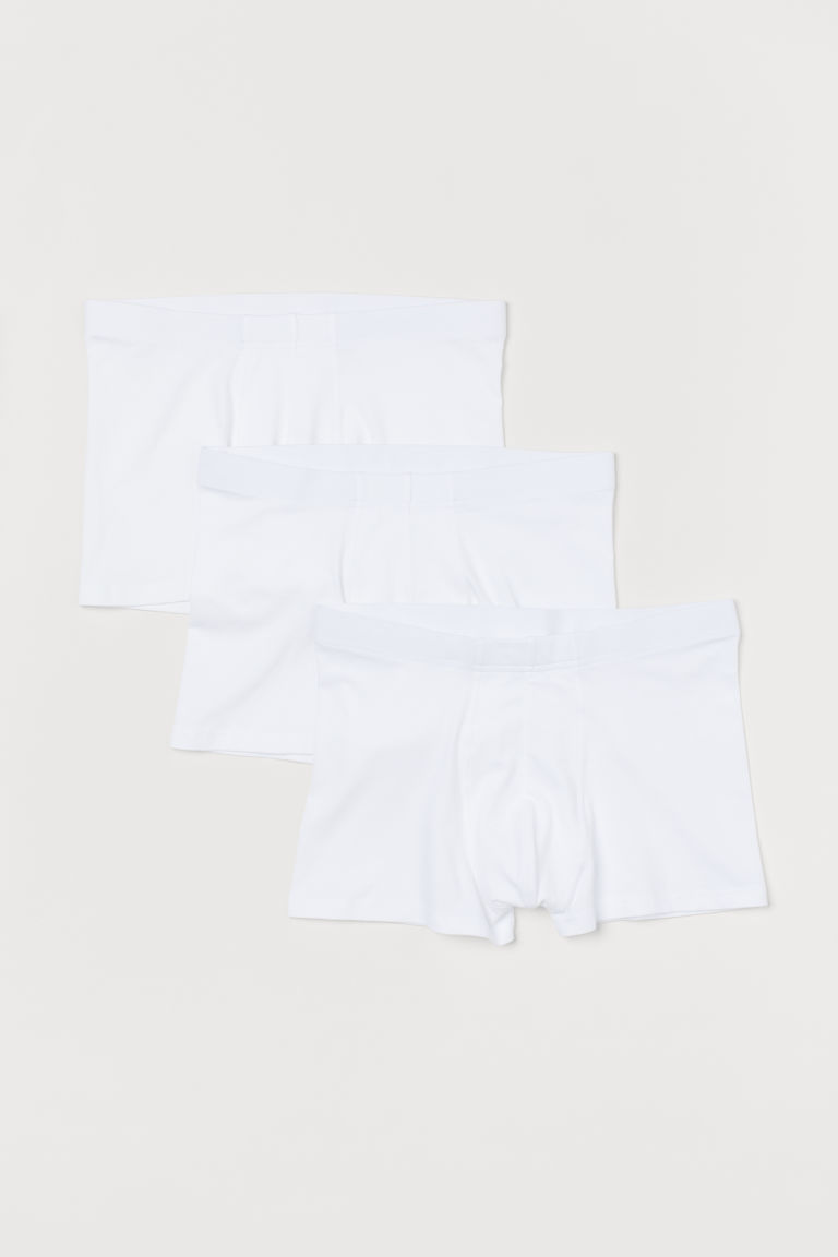 3-pack short trunks - White - Men | H&M GB