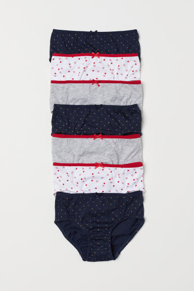 7-pack cotton briefs - Dark blue/Spotted - Kids | H&M CN