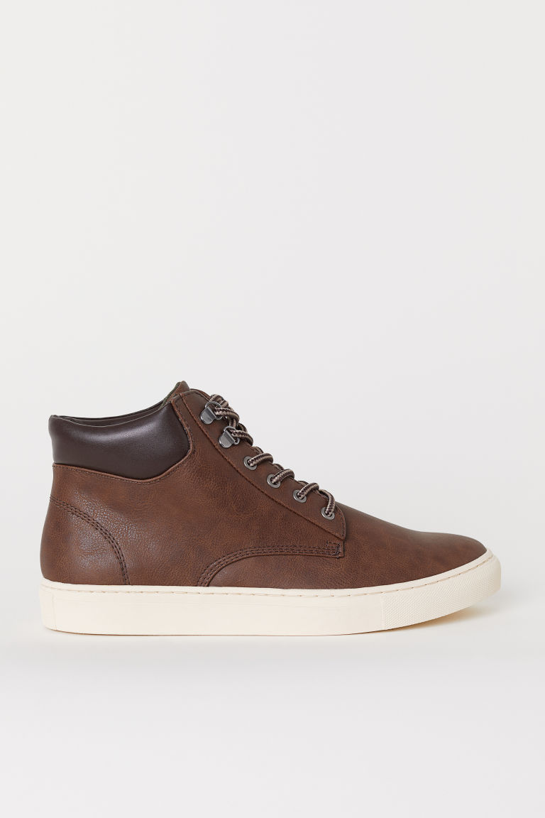 Hi-top trainers - Dark brown - Men | H&M