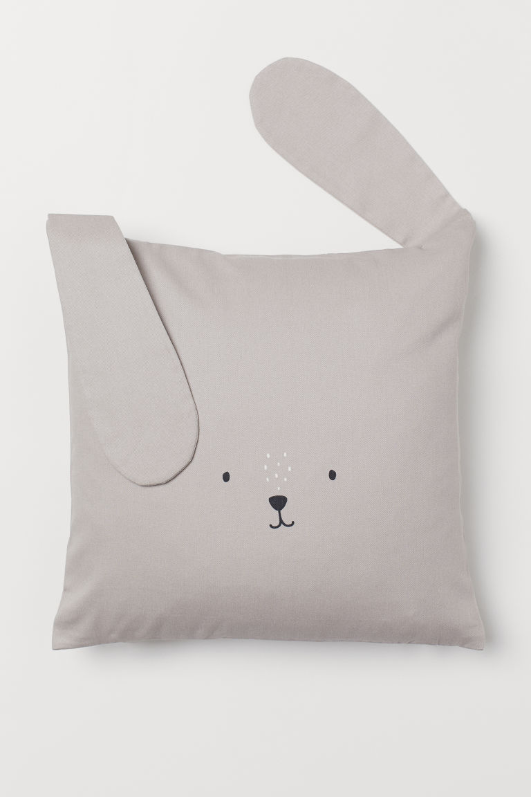Cotton twill cushion cover - Light grey/Rabbit - Home All | H&M CN