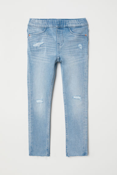 Leggings denim superelástico - Azul denim claro - NIÑOS | H&M ES
