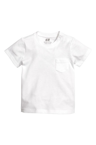 Cotton T-shirt - White - Kids | H&M US
