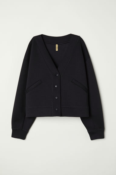 Scuba cardigan - Black - Ladies | H&M CN