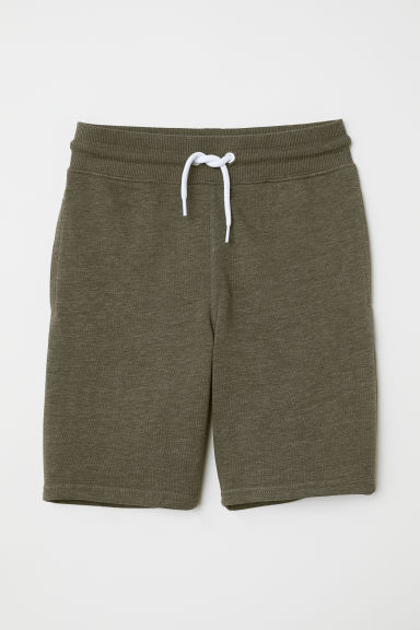 Sweatshirt shorts - Khaki green marl - Kids | H&M