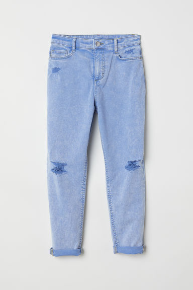 Twill trousers Trashed - Blue washed out - Kids | H&M
