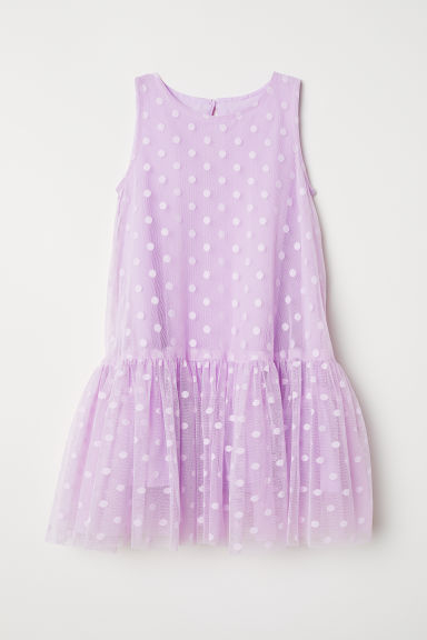 Flared mesh dress - Light purple - Kids | H&M