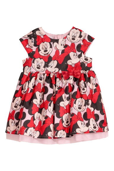 Patterned dress - Red/Minnie Mouse -  | H&M