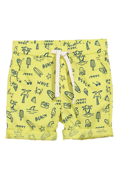 Cotton shorts - Light yellow - Kids | H&M