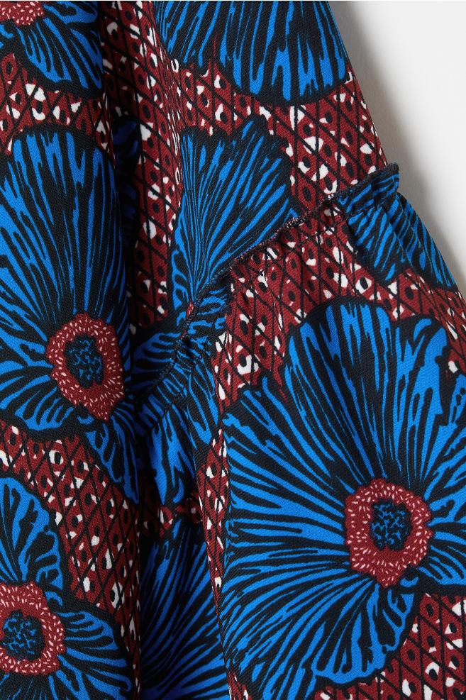 de463b21a172 Flounce-sleeved Coat - Burgundy floral - Ladies