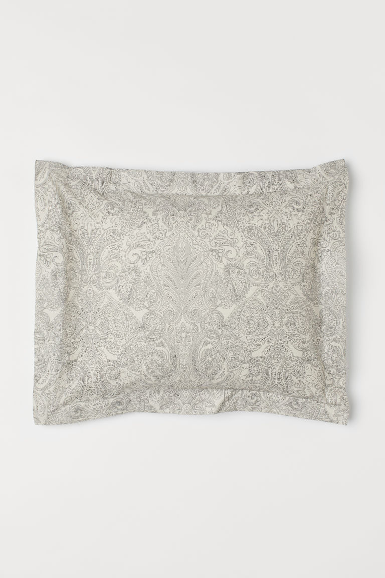 Paisley-patterned pillowcase - Natural white/Patterned - Home All | H&M CN