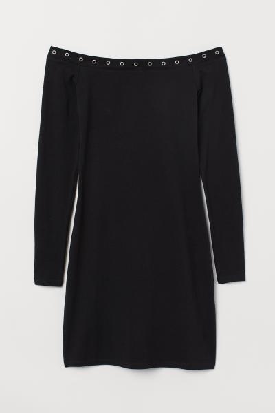 H&M - Vestido hombro descubierto - 5