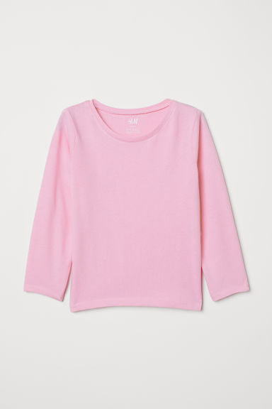 Jersey top - Pink - Kids | H&M CN