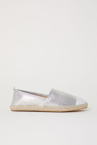 Espadrilles - Silver-coloured -  | H&M CN