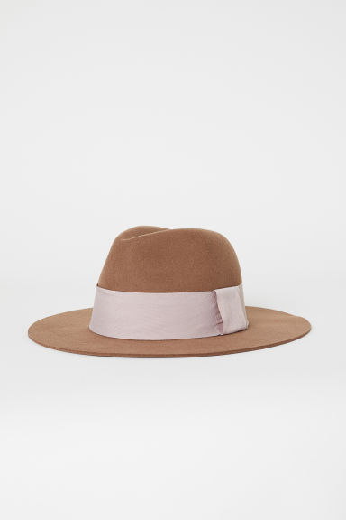 Felted wool hat - Brown - Ladies | H&M CN
