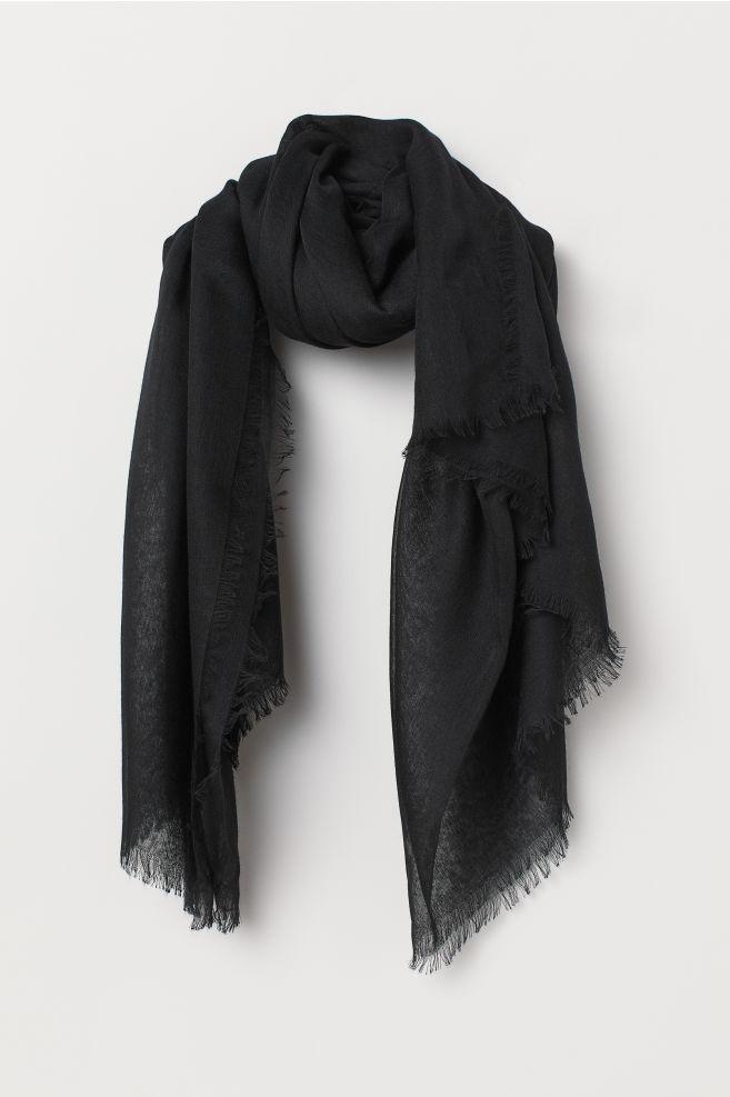 Skir scarf - Svart - DAM  0271a744d8478