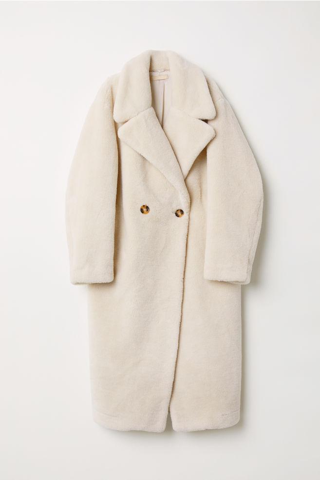 f027381406 Műszőrme kabát - Világosbézs - NŐI   H&M ...