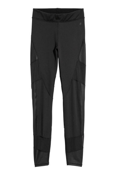Sports tights - Black -  | H&M GB