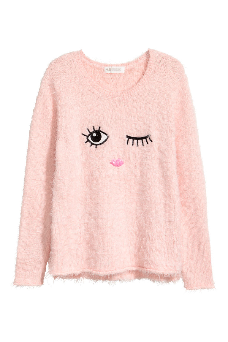 Knitted jumper - Light pink - Kids | H&M