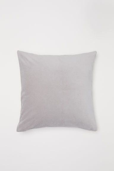 Cotton velvet cushion cover - Light grey - Home All | H&M IE