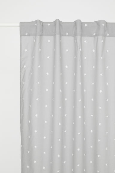 Patterned curtain length - Grey/Stars -  | H&M CN