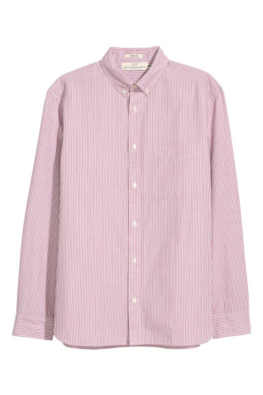 Camicia popeline Regular fit - Rosa/righe - UOMO | H&M IT