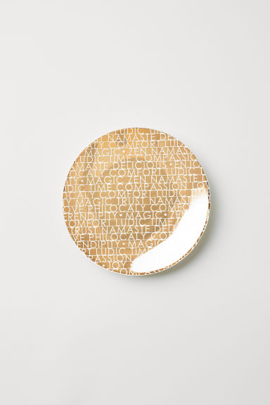 Printed plate - Gold-coloured - Home All | H&M GB