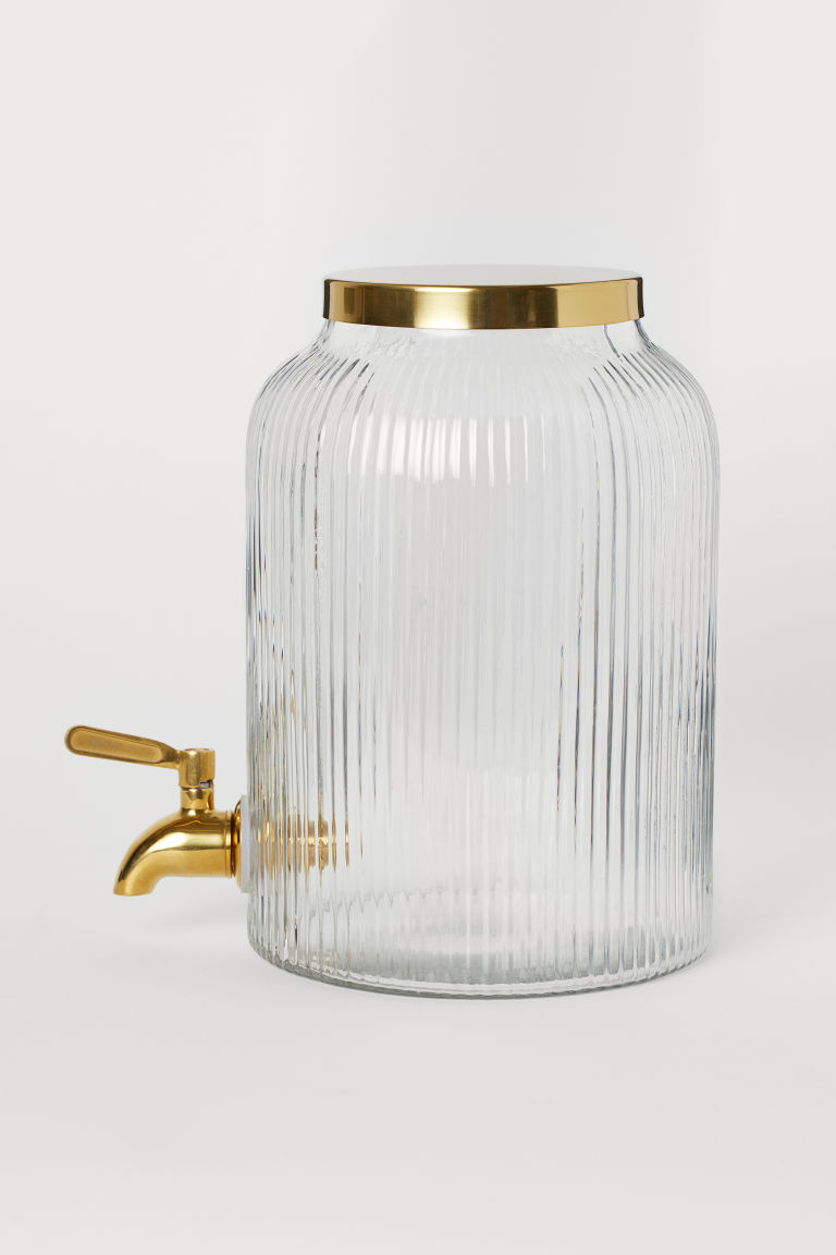 Dispenser with Tap - Clear glass/gold-colored - Home All | H&M US