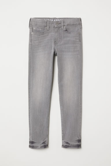 Superstretch Skinny Fit Jeans - Ljusgrå denim - BARN | H&M FI