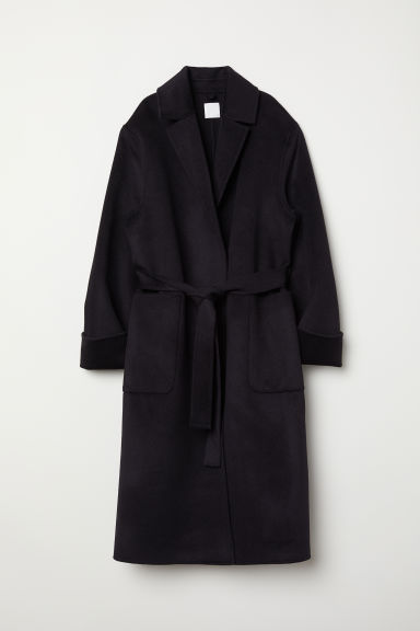 Cashmere-blend coat - Dark blue - Ladies | H&M