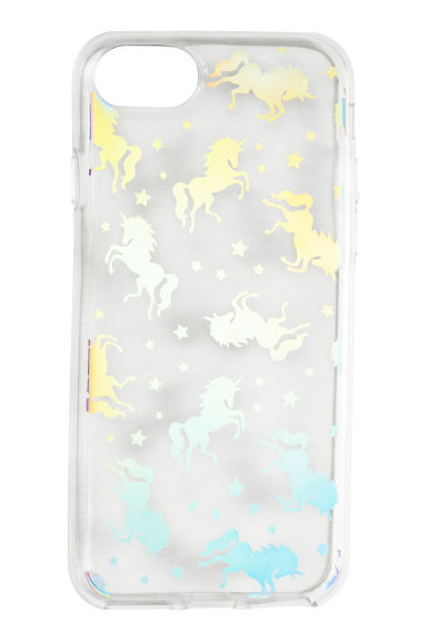 Coque pour iPhone 6/7 - Transparent/licornes - FEMME | H&M BE