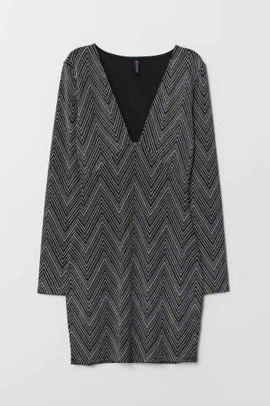 Glittery dress - Black/Patterned -  | H&M CN