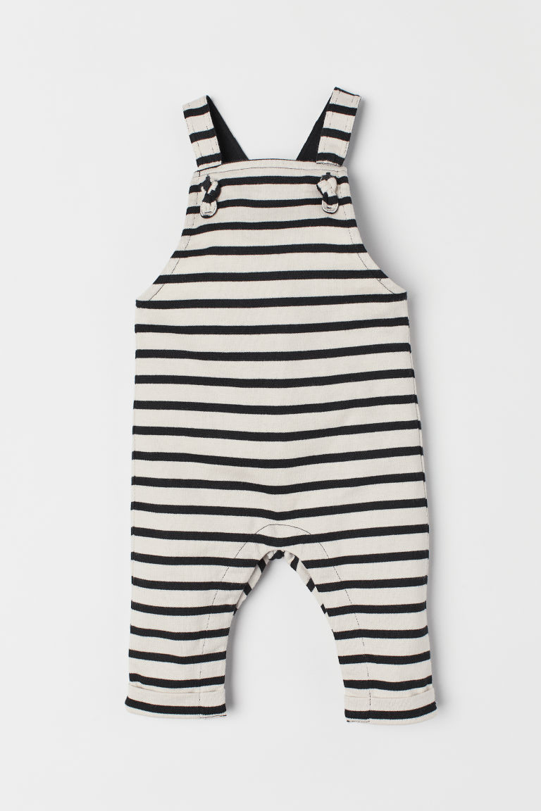 Dungarees - Beige/Striped - Kids | H&M CN