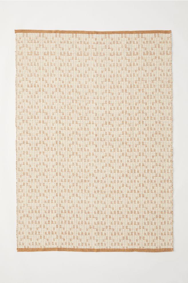 Tapis en laine mélangée - Marron clair/écru - Home All | H&M FR