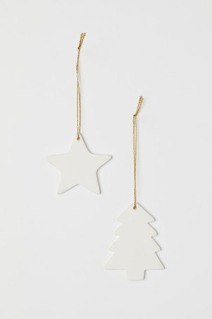 Décorations de Noël, lot de 2