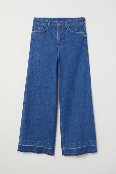 Denim culottes High waist - Denim blue -  | H&M CN