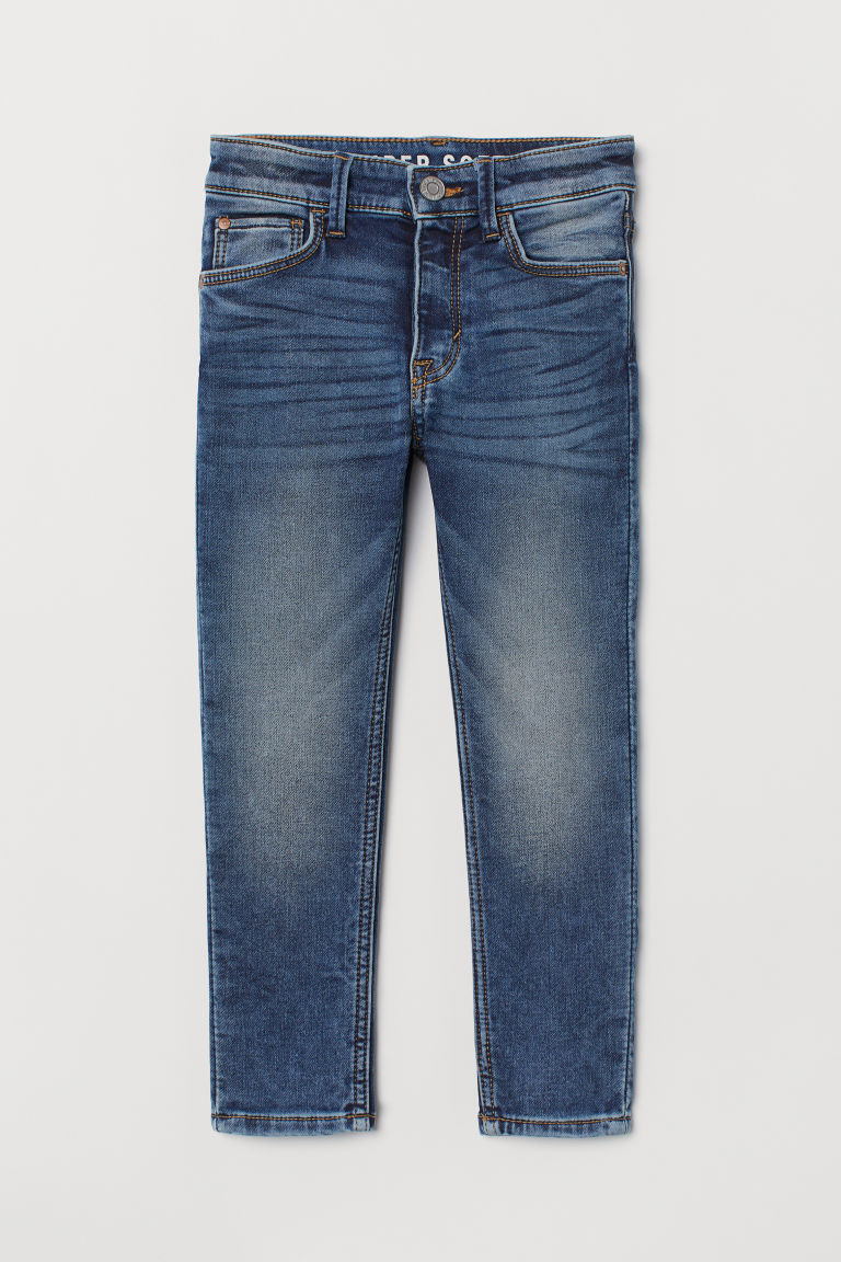 Super Soft Skinny Fit Jeans - 牛仔蓝/水洗 - Kids | H&M CN