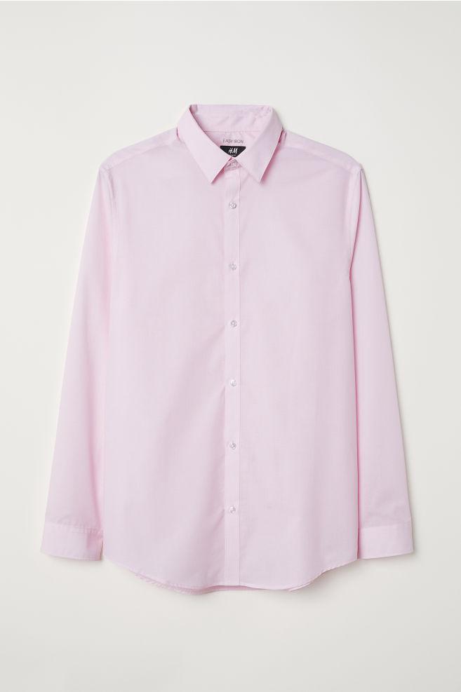 bda37b9be27 Easy-iron Shirt Slim fit - Light pink - Men