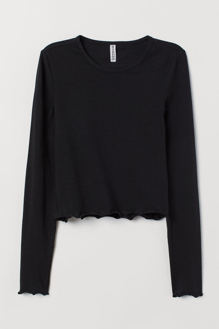 Top in jersey - Nero -  | H&M IT