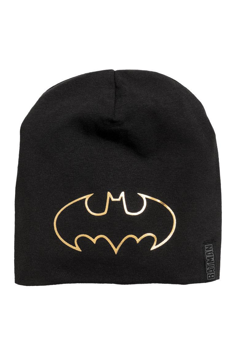 86d2fb7f2 Džersejová čiapka s potlačou - čierna/Batman - DETI   H&M SK