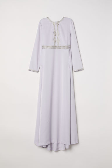 Long embroidered dress - Light purple - Ladies | H&M CN