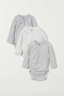 3-pack long-sleeved bodysuits