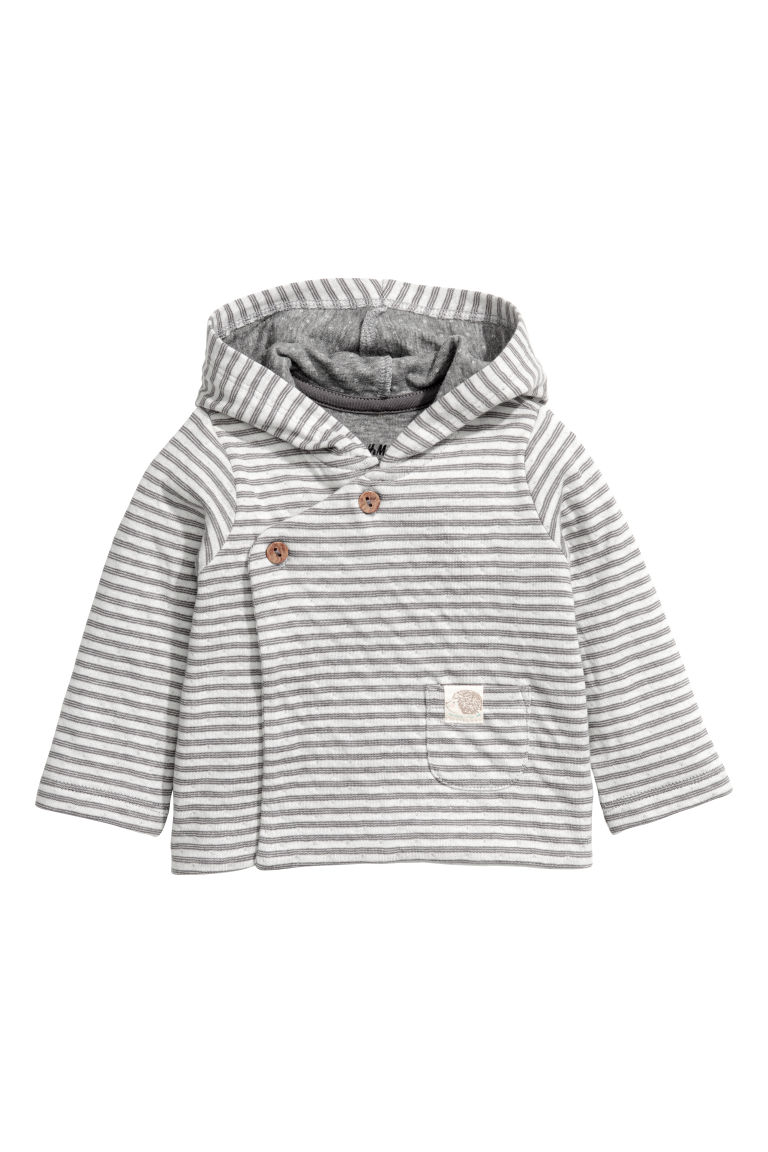 Hooded top and trousers - Grey/White striped - Kids | H&M CN