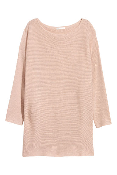 Rib-knit jumper - Powder beige - Ladies | H&M