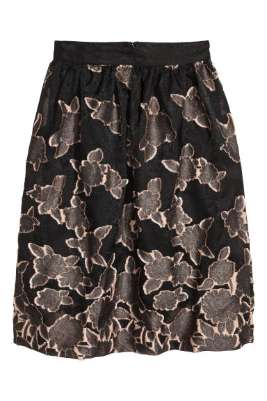 Jacquard-weave skirt - Black - Ladies | H&M