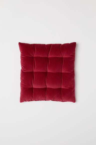 Velvet seat cushion - Dark red - Home All | H&M GB