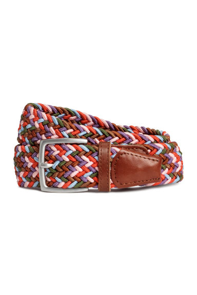 Braided elastic belt - Red/Multicoloured -  | H&M CN