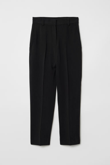 Ankle-length suit trousers - Black - Ladies | H&M