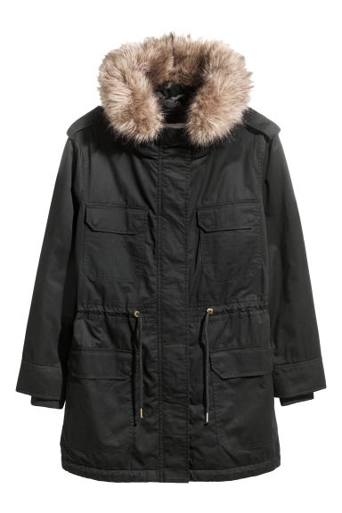 H&M+ Cotton parka - Black -  | H&M